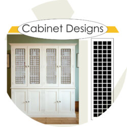 Decorative Kitchen Cabinet Glass